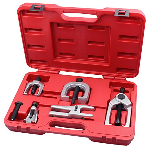 Kauplus 5PCS Front End Service Tool set Separate Pitman Arm Puller Kits Tie Rod Remover Tool Set Ball Joint Separator Tools 5-Piece by Kauplus (Image #1)