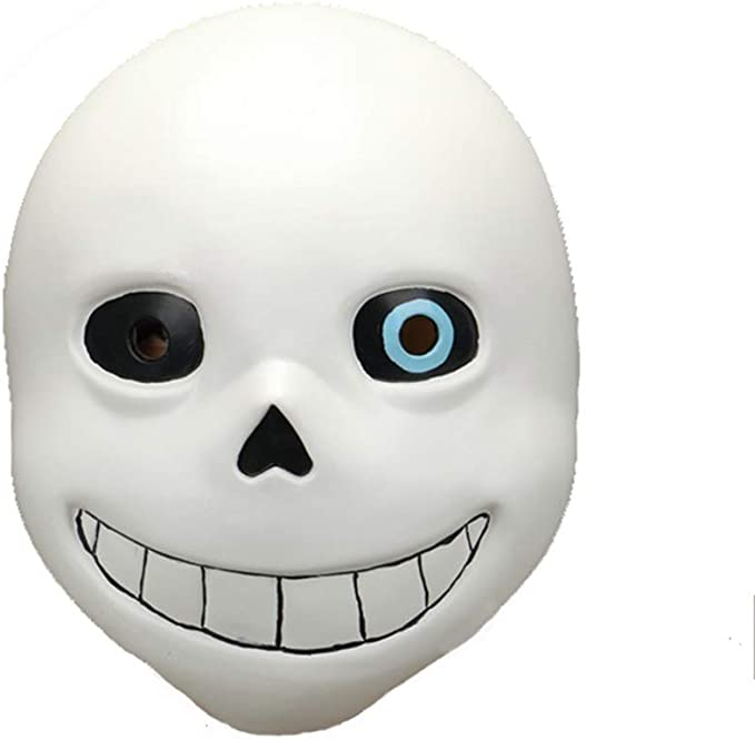 Sans Mask Cosplay Carnival Halloween Scary Latex Mask Blanco con ...
