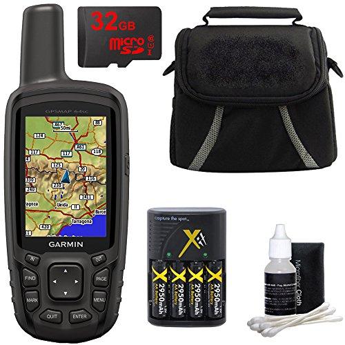 Garmin Gpsmap 64Sc Handheld Gps   1 Year Birdseye 010 01199 30 W  32Gb Micro Sd Bundle
