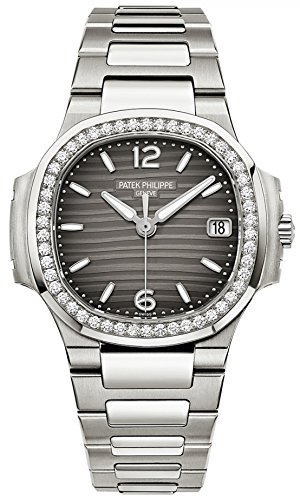 Patek Philippe Nautilus Ladies 32mm White Gold Watch -