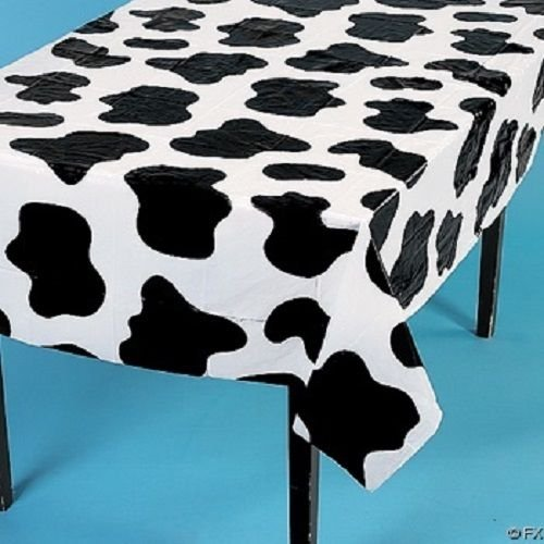 2 Cow Spots Table Cloth Covers Farm Barnyard Animal Birthday Party 54 x (Cow Print Tablecloths)