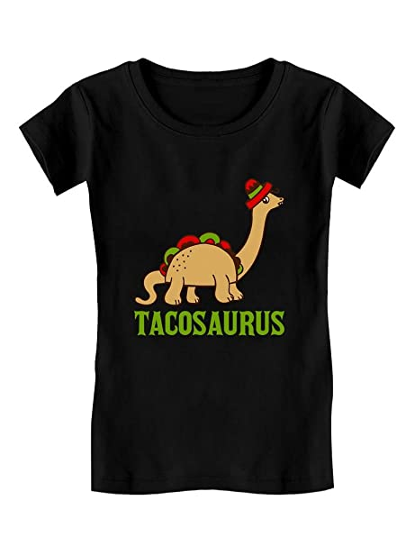 d3e91eb8 Tacosaurus Taco Funny Taco Dinosaur Gift Toddler/Kids Girls' Fitted T-Shirt  2T