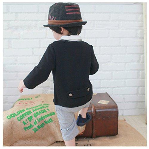 Bébé Noeud Acvip Avec Garçon Costume Noir Papillon Combinaison Mode Barboteuse CxwRqdf