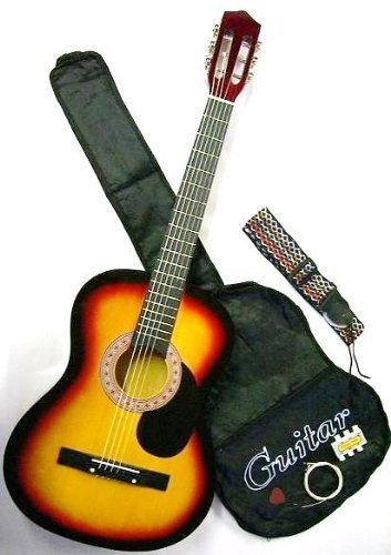 Spectrum AIL 38K Student Size Hand Crafted 38-Inch Acoustic Guitar Pack with Gig Bag