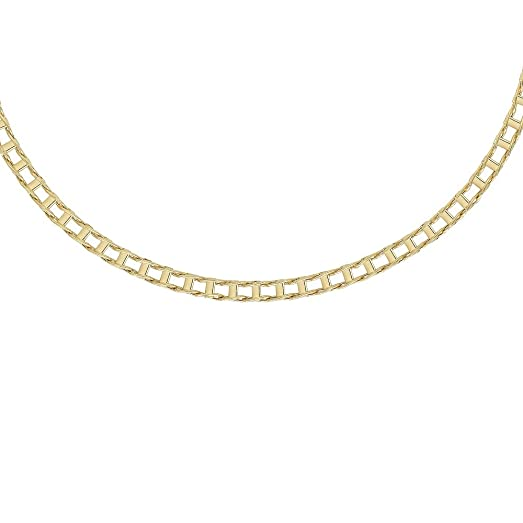 14k Solid Yellow Gold Men Fashion Railroad Link chain/Necklace 20