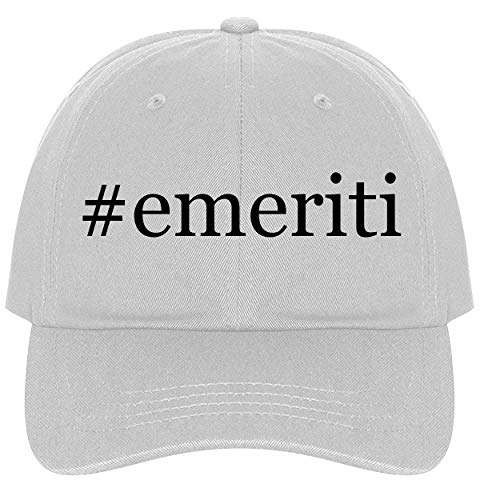 The Town Butler #Emeriti - A Nice Comfortable Adjustable Hashtag Dad Hat Cap, White, One -