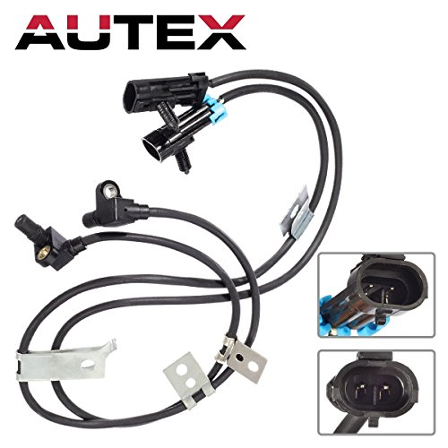 AUTEX 2 Pcs Front Left & Right ABS Wheel Speed Sensor ALS1184 5S8371 Compatible with Chevrolet K1500 K2500 SUBURBAN Tahoe 1996-1999 K2500 K3500 PICKUP 1997-2000/GMC K1500 SUBURBAN 1995-1999