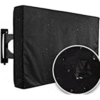Outdoor TV Cover 60 - 65 Black Weatherproof Universal Protector For LED, LCD or Plasma Television Screen | Remote Control Storage Pocket | Fits Most Mounts & Brackets