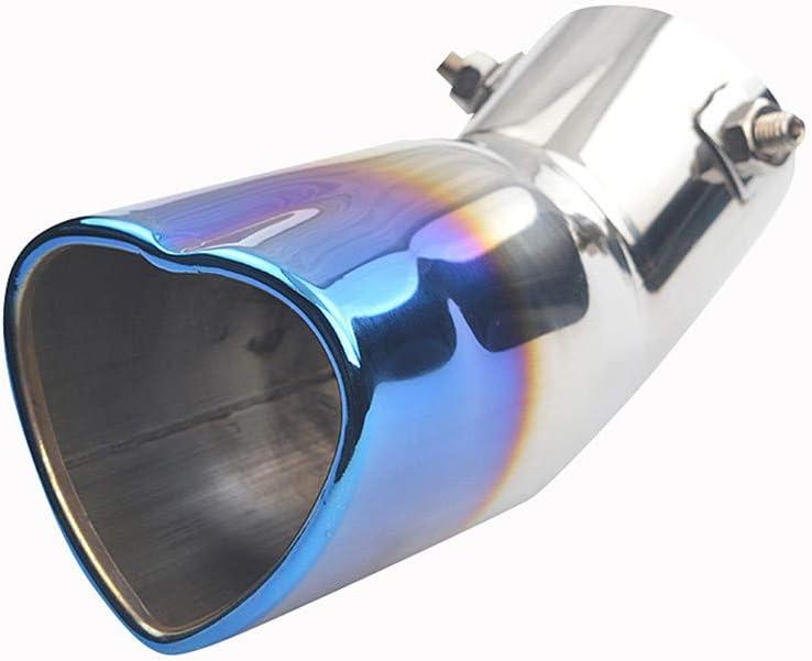 WPCASE Auspuffblende Auspuffblende Gebogen Auspuff Endrohr Endschalld/äMpfer Auspuff Auspuff Sound Booster Auspuffblenden Auspuff Blenden Endrohr Auspuffblende Auspuffblende Schwarz Blue,63mm