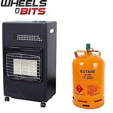 GB & Irlanda portátil CASA Butano Fire Calor Gas Estufa 35mm REGULADOR: Amazon.es: Coche y moto