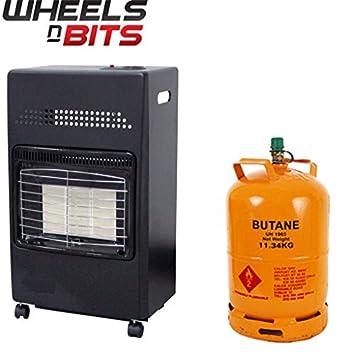 NUEVO 4.2kw portátil CASA Butano Fire Calor Gas Estufa 35mm REGULADOR Manguera: Amazon.es: Coche y moto