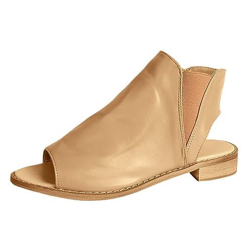 Beladla Sandalias Mujer Tacon Bajo Shoes Mujers CuñA Alpargatas Plataforma Bohemias Romanas Mares Playa Gladiador Verano Tacon Planas Zapatos Zapatillas: ...