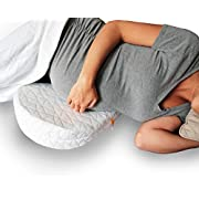 JILL & JOEY Pregnancy Wedge Pillow - Support Your Body, Belly, Back & Knees During Maternity - Soothes Pelvic Pain and Helps Sleeping - Firm Memory Foam, Washable Cover and Travel Bag