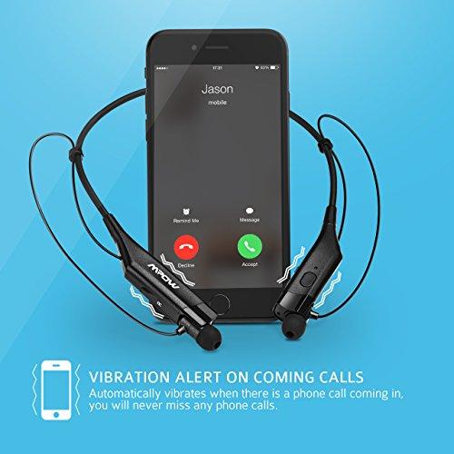 mpow bluetooth headphones v4 1 vibrating call alert. Black Bedroom Furniture Sets. Home Design Ideas