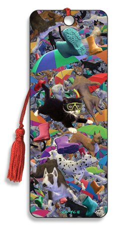 Artgame - Raining Cats And Dogs - 3D Bookmark from Artgame