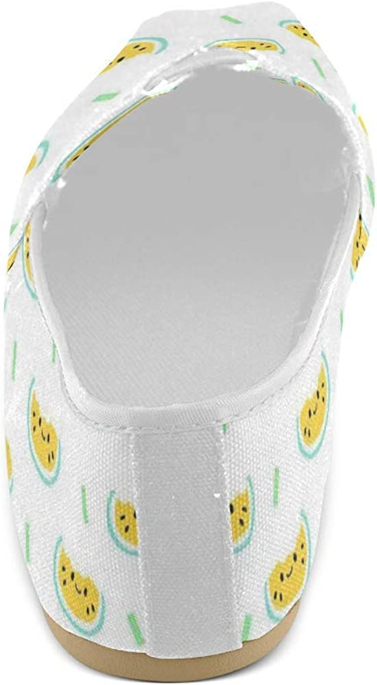 Unisex Shoes Yellow Watermelon Casual Canvas Loafers for Bia Kids Girl Or Men