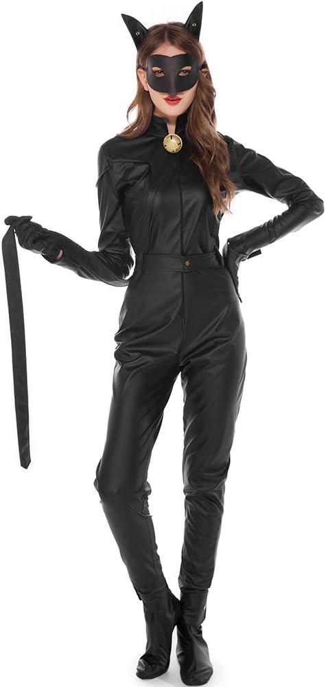 CAGYMJ Cosplay Dress Party Mujer,Catwoman De Cuero Mascara Batman ...