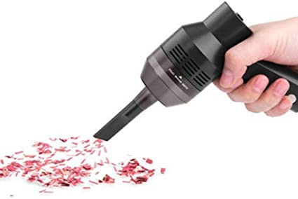 Aspirador de teclado USB Mespoo, mini aspirador con dos boquillas para limpiar el polvo, migas de