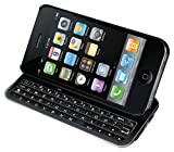 slide keyboard phone cases - Hype Apple iPhone 4S 4 Wireless Bluetooth Sliding Backlit Keyboard Case with Micro Usb Charger Ultra-thin Case Full QWERTY Keyboard - Black