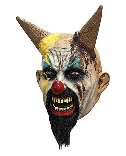 Ghoulish Productions Hells-cream Scary Clown Mask