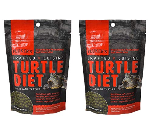 Fluker's 2 Pack of Crafted Cuisine, 6.75 Ounces Each, Turtle Diet for Red-Eared Sliders, Painted Turtles, Softshell Turtles, Map Turtles, Musk Turtles, Cooters and Snapping Turtles