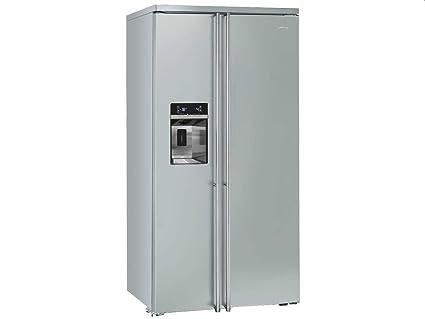 Smeg Kühlschrank Doppeltür : Smeg fa side by side kühl gefrier kombination edelstahl