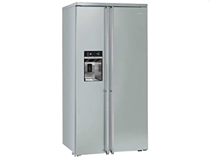 Smeg Kühlschrank Eiswürfel : Smeg fa side by side kühl gefrier kombination edelstahl