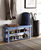 Convenience Concepts Oxford Utility Mudroom Bench, Blue