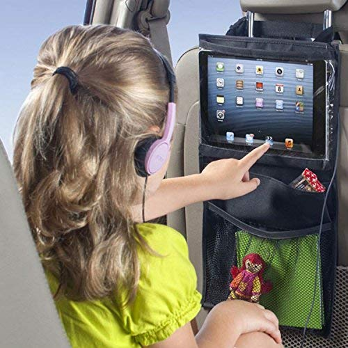 Car Organizer Car Dining Table Car Backseat Organizer Holder Car Seat Organizer Multi-Pocket Travel Storage con Touch Screen Supporto delliPad per i viaggi Car Back Seat Organizer