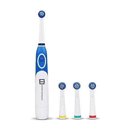 Modenny Cepillo de Dientes eléctrico Giratorio con batería con 4 Cabezas de Cepillo Productos de Salud