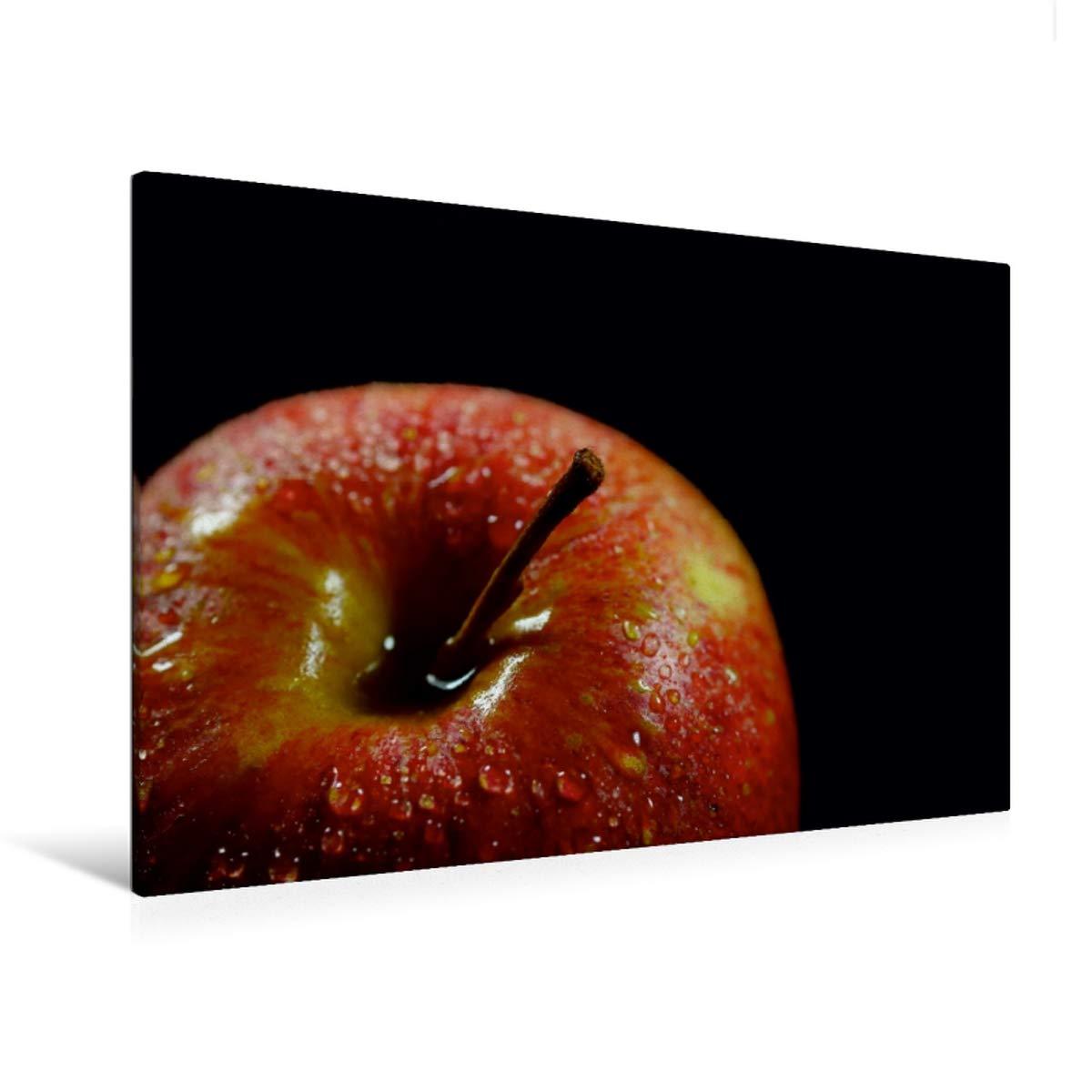 Premium Textil-Leinwand 120 cm x 80 cm quer roter Apfel
