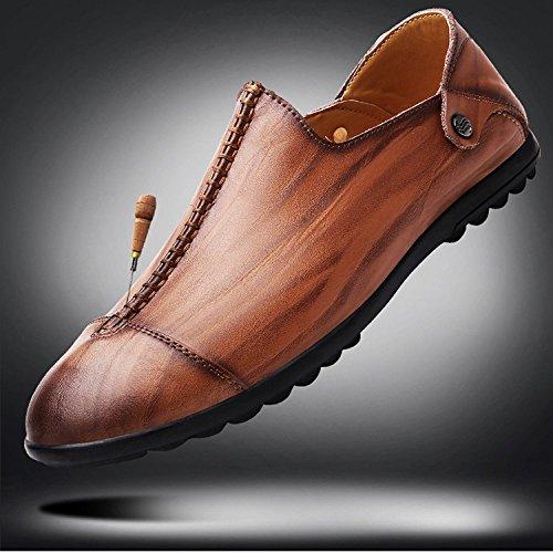 Capa De Hombres Yxlong Casuales Primera Negocios Británicos Zapatos Solteros Nuevos Verano Cuero Goldenyellow TqwOpn8