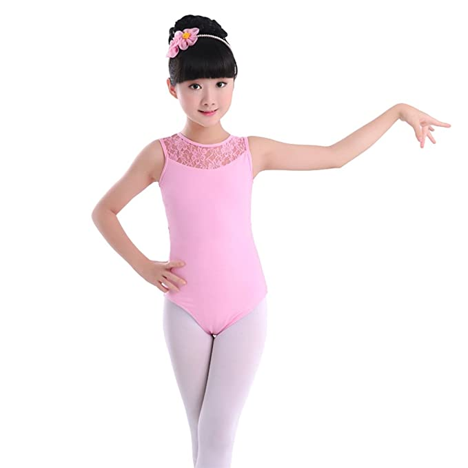 f447f073b Amazon.com  KINDOYO Girls Kids Children Lace Stitching Ballet Dress ...