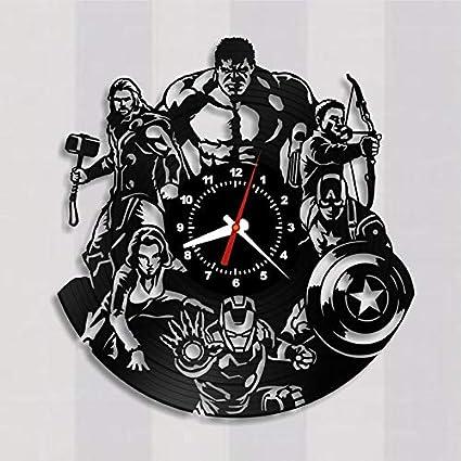 Amazon Com Vinyl Record Wall Clock Avengers Iron Man Tony