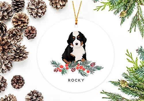 Dog Mountain Ornaments (Littledollz Bernese Mountain Dog Ornament Personalized Dog Christmas Ornament)