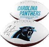 Cam Newton Carolina Panthers Autographed White Panel Football - Fanatics Authentic Certified - Autographed Footballs