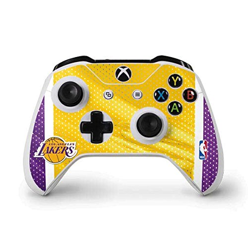 Skinit Los Angeles Lakers Home Jersey Xbox One S Controller Skin - Officially Licensed NBA Gaming Decal - Ultra Thin, Lightweight Vinyl Decal Protection ()