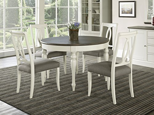 Vegas 5 Piece Round to Oval Extension Dining Table Set for 4 (Oval Back Chairs)