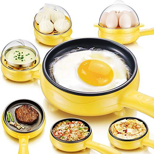 Mini Tortilla De Huevos Panqueques Eléctricos Fritos Filete Sartén, Antiadherente Huevos Hervidos Caldera Vapor Multifunción Hogar: Amazon.es: Hogar
