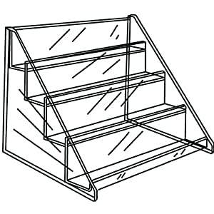 4 Tier Retail Shelf for Countertop Impulse Items, 15.5 x 11 x 12.75