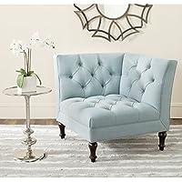 Safavieh Mercer Collection Jack Corner Chair, Sky Blue