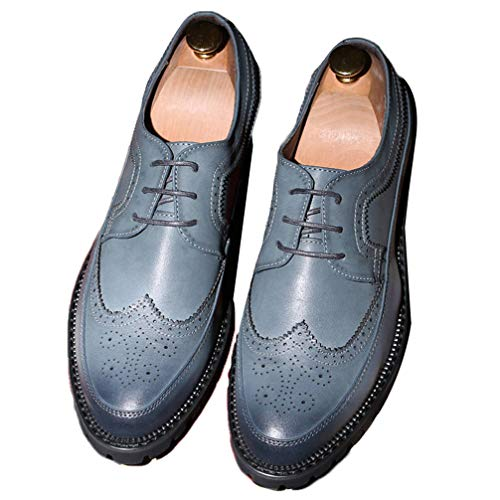 Phil Betty Mens Brogues Shoes Lace Up Round Toe Formal Elegant Dress Shoes