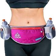 NARUTOO Hydration Running Belt with Water Bottles Holder (2 X 170 ml), Hydration Belt Running Pouch Belt, Adju