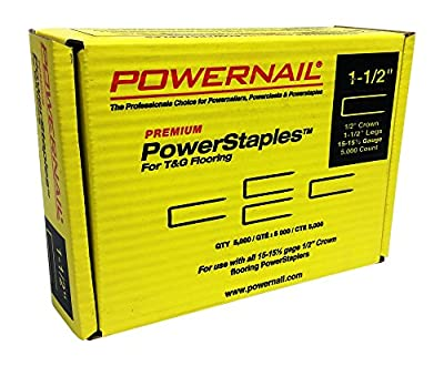 "Powernail PowerStaple 15.5ga 1-1/2"" Flooring Staple. 5000ct"