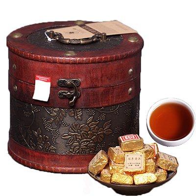 Shouyi Xuan Yunnan Pu'er tea small bricks Pu'er tea Tuocha 2003 Pu'er cooked brick cask barrel Pu'er 750g (2003 Cask)