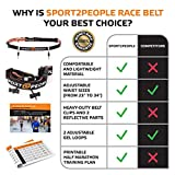 Sport2People Running Belt USA Patented - Fanny Pack for Hands-Free Workout - iPhone X 6 7 8 Plus Buddy Pouch for Runners - Freerunning Reflective Waist Pack Phone Holder - Fitness Gear Accessories