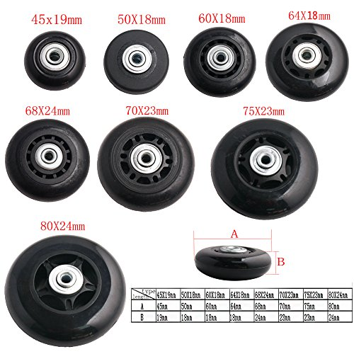 Forwardsell-Black-Luggage-Suitcase-Inline-Outdoor-Skate-Replacement-Wheels-with-ABEC-608zz-Bearings