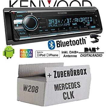 CD iPhone//Android Einbauset f/ür Mercedes CLK W208 DAB+ Einbauzubeh/ör Bluetooth JUST SOUND best choice for caraudio Autoradio Radio Kenwood KDC-X7200DAB 2X USB hinten