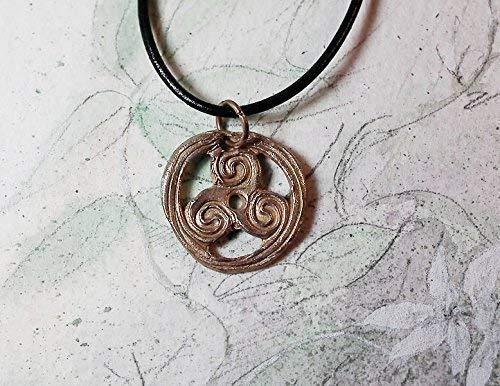 TRISKELION Triskele Handmade Bronze Pendant