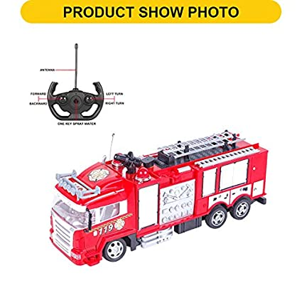 Quality RC Fire Truck With Lights Sounds And Water Cannon